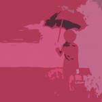 Courte nouvelle. Le parapluie rouge