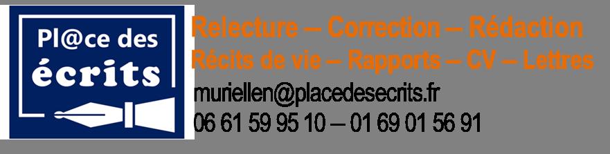 Logo et coordonnées de Murielle Naïtali, écrivain public.
